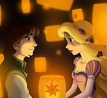 "Tangled - Rapunzel and Eugene ""I see the light"" by Marionlalala"