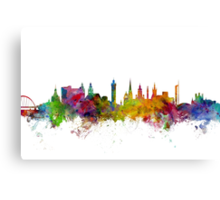 Glasgow Scotland Skyline Canvas Print