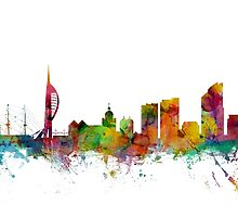Portsmouth England Skyline by Michael Tompsett