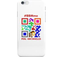 #BBMme ~ PIN: 4M1R4CL35 [Color] iPhone Case/Skin