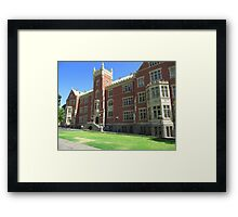 Brookman Building built 1889, Uni S.A. North Terrace, Adelaide.S.A. Framed Print