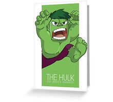 The Hulk Greeting Card