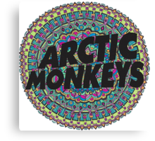 Arctic Monkeys Tribal Print Canvas Print