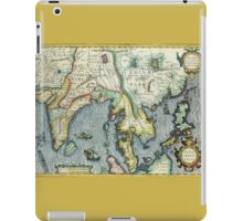 Southern Asian Continent Map 1600s iPad Case/Skin