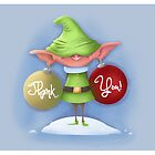 "Elf Earrings ""Thank You"" card by Derek Stewart"