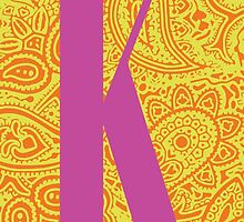 Paisley Print Letter K' by haypaige