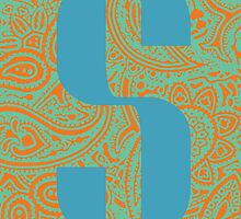 Paisley Print Letter 'S' by haypaige