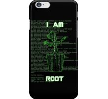 I AM ROOT (Matrix version) iPhone Case/Skin