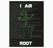 I AM ROOT (Matrix version) Kids Clothes