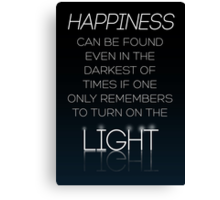 HARRY POTTER Quote by Albus Dumbledore Canvas Print