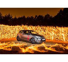 Citroen DS Racing Fire 2 Photographic Print