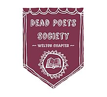 Society Crest (Burgundy) Photographic Print
