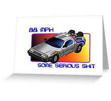88 MPH Greeting Card