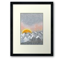 Alone in a Sunrise Snowstorm Framed Print