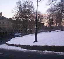 The Crescent, Buxton in snow by mindgoop