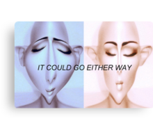 IT COULD GO EITHER WAY Canvas Print