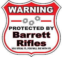 Barrett Rifles Protected by Barrett Rifles Shield by gungifts