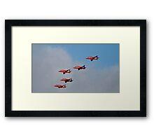 Red arrows 5 ship Framed Print