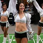 NFL fan festival in Regent Street London with a live performance by the Oakland Raiders cheerleaders, by Keith Larby