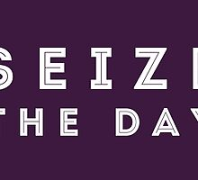 Seize the Day (Inline White) by dontchasesheep