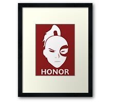 Prince Zuko - HONOR! Framed Print