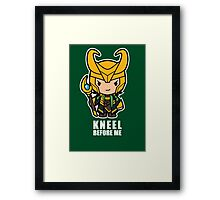 Kneel Before Me Framed Print