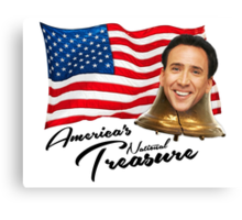 America's National Treasure - Black Text Canvas Print