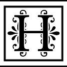 Letter H Monogram by imaginarystory