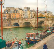 Boats & Pont Neuf by Michael Matthews