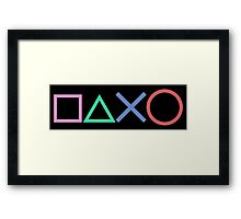 Playstation Buttons Framed Print