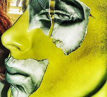 Punk collage man in yellow by cherylkerkin