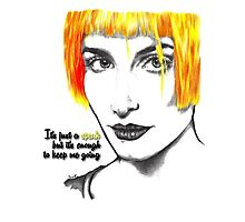 It's just a spark but it's enough to keep me going - Hayley Williams Photographic Print