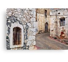 Old Cretan village Canvas Print