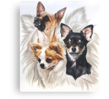 Chihuahua w/Ghost Canvas Print