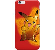 Pikachu (with background) iPhone Case/Skin