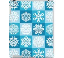 Checkered Snowflakes iPad Case/Skin