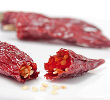 Dried Chillies #1 by davidpreston