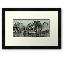 Chinese Art - Landscape Framed Print