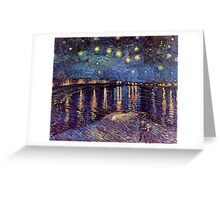 Starry Night over the Rhone, Vincent van Gogh. Greeting Card