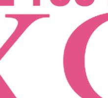 love you like XO Sticker