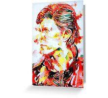 DAVID BOWIE - watercolor portrait.2 Greeting Card