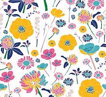 Bright Spring Flowers by Sarah Price