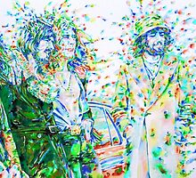 LED ZEPPELIN  - watercolor portrait by lautir