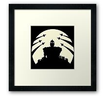 The Giant and the moon. Framed Print