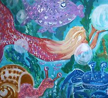 Mermaid and Friends under the sea by Maureen Zaharie