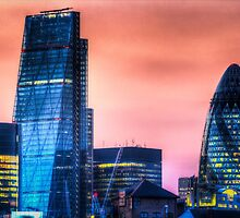 The Gherkin and the Cheesgrater London by DavidHornchurch
