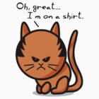 Grumpy cat on shirt by Richard Eijkenbroek