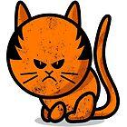 A grumpy cat worn out by Richard Eijkenbroek