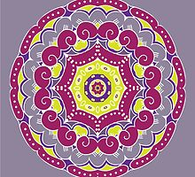 Violet mandala by IraMukti