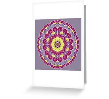 Violet mandala Greeting Card